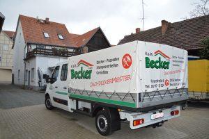 Autowerbung Dachdecker Becker