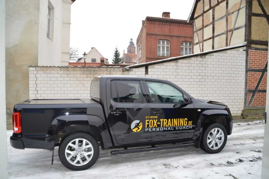 Autowerbung Fox-Training