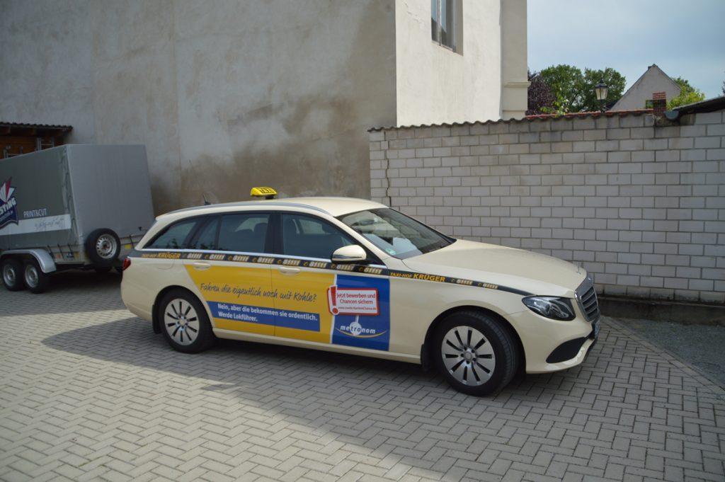 Autowerbung Taxi